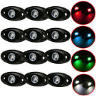 12x CREE 9W 2inch  LED Rock Light Car Pickup Under Body Tail Light Work Lamp