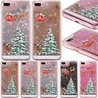 Christmas Tree Dynamic Glitter Quicksand Phone Case Cover For iPhone 8 7 6s Plus