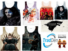 New Fashion Women Men Game of Thrones 3D Print Casual Tank Top All Sizes S- 5XL