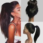 3 Colors Long Ponytails Straight Lace Front Synthetic Wig Women NEW