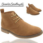 Mens Suede Desert Ankel Boots Work Casual Lace Up Navy Shoes UK Size 7 8 9 10 11