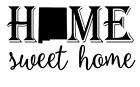 New Mexico State Home Sweet Home Vinyl Decal Sticker RV Window Wall Home Choice