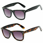 Square Thick Frame Full Lens Magnified Tinted Sun Readers Reading Sunglasses