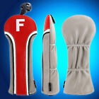 3pcs Red Golf Woods Headcover Driver Rescue UT Cover Fit Taylormade Ping Fairway