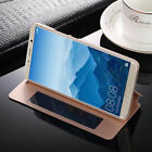 For Huawei Mate 10 P10 Plus Luxury Flip Leather Window View Kickstand Case Cover