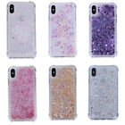 Bling Quicksand Glitter Liquid Stars Soft Rubber Phone Case Cover For iPhone X