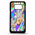 Giraffe african colourful spot cover for Samsung Galaxy S5 S6 S7 edge S8 plus