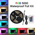 USB Powered RGB 5050 LED Strip Lighting TV PC Backlight Flexible 30SMD/M DC 5V