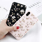 For Apple iPhone X Cute Floral Pattern Rubber Soft TPU Silicone Back Case Cover