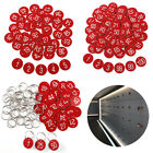 Numbered Tags w/ Key Ring Acrylic Id Tags for Organizing 50-100 Pieces Red 1-200