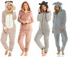 PUG Dog All In One Suit Ladies Womens Fleece Hooded Snuggle Shaggy Novelty Jump