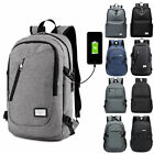 Anti-shoplifting Mens Womens USB Charging Backpack Laptop Notebook Travel School Bag