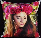 Personalised Premium Cushion Cover Printed Photo Gift Large Print Filling Option