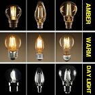 LED FILAMENT 2W 4W 6W 8W BULBS GLS/Golf/Candle B22 BC ES E27 SES E14 Lamps
