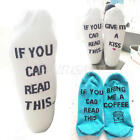 Women Mens Funny Socks If You can read this Bring Me a Coffee,Kiss Ankle Socks