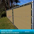 Ifenceview 6'x5'-6'x50' Beige UV Fence Privacy Screen Mesh Fabric Garden Outdoor