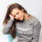 Hangover Sweater Embroidered Sweatshirt. TUMBLR Hanging Alcohol Funny Humour