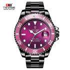 TEVISE Business Men Automatic Mechanical Stainless Steel Calendar Military WatchWristwatches - 31387