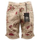 8367S bermuda uomo PURPLE REGULAR FIT beige pantalone short pant men