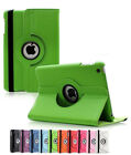 360 Rotating PU Leather Folio Case Smart Cover Stand For Apple iPad 2 Air Mini