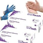 Disposable Powder Free Clear & Blue Vinyl Gloves Food Medical Surgical  <br/> TRACKED  DELIVERY -  Multi Box Discount - VAT Invoice