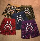 17SS A Bathing Ape 5 Colors Camo Shorts Shark Prints S-XXL Cool Bape Shorts