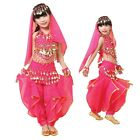 US2 Child Belly Dance Costumes veil & Top & pants skirt sets for beginer show