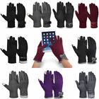 US Lovely Womens Warm Fleece Lining Thick Gloves Touch Screen Winter Mittens