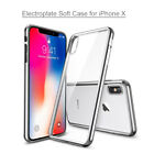 For iPhone X Electroplate Crystal Transparent Clear Protective TPU Soft Case New