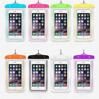 Green Waterproof Underwater Swimming Luminous Pouch Dry Bag Case For Cell Phones