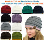 Внешний вид - NEW! CC Beanie Trendy Warm Accent Lined Chunky Soft Stretch Cable Knit Beanie