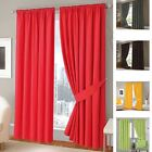 100% Cotton Half Panama Fully Lined Thermal Solar Blocking Curtains Set Tape Top