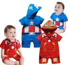 Baby Boy Captain America/Iron Man Carnival Fancy Costume Outfit Clothes Romper