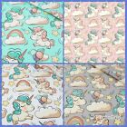 SALE*COLORFUL UNICORNS,100%COTTON FABRIC,Sewing,PATCHWORK,sell by metre,CRAFT