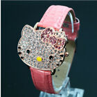 Hot Sales Lovely Hello Kitty Watch Children Girl Women Fashion Crystal Dress