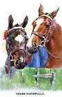Horses Yours Faithfully Quilt Block Multi Sizes FrEE ShipPing WoRld WiDE
