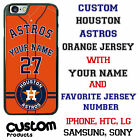 Houston Astros Orange Baseball Jersey Phone Case personalized for Samsung etc