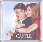 Castle Nathan Fillion Stana Katic poster Square Fridge Magnets & Keyring Quinn