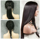 """12""""-22"""" soft silky straight 100% indian remy human hair full/front lace wigs"""