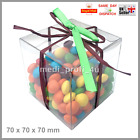 1 - 25 TRANSPARENT CLEAR CUBE FAVOUR BOX 70x70x70mm BOXES WEDDING GIFT FAST CHEA