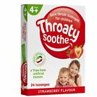 Throaty Soothe Lozenges for Children - 24 Strawberry Lozenges 1 2 3 6 12 Packs