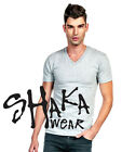 Shaka Wear V-Neck Plain Basic Blank Jersey  T-Shirt Tee  image