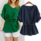 Fashion Women Plus Size Bat Sleeve Blouse Loose Casual Tops Shirts