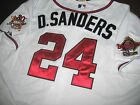 Brand New Atlanta Braves Cooperstown 24 Deion Sanders Majestic Jersey WHITE