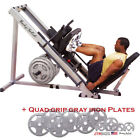 PACKAGE: Body-Solid GLPH1100 Leg Press Hack Squat + Steel Grip Olympic Plates