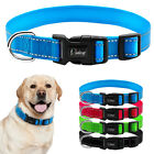 reflective nylon plain dog collars for small