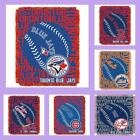 MLB Licensed Double Play Triple Woven Jacquard Throw Blanket - Choose Team
