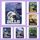 NFL Licensed Big Large Soft Silk Touch Afghan Throw Blanket - Choose Your Team