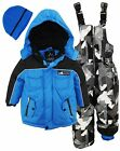 Ixtreme Little Boys Heavy Weight Skiing Snowsuit Jacket Print Bib Bonus Hat