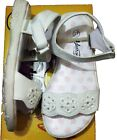 Open Toe Sandals Beach Shoes Shoe Summer White Flower Low heal Velcro Boxed